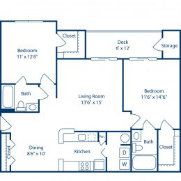 Bell Brookfield Two Bedroom Floor Plan